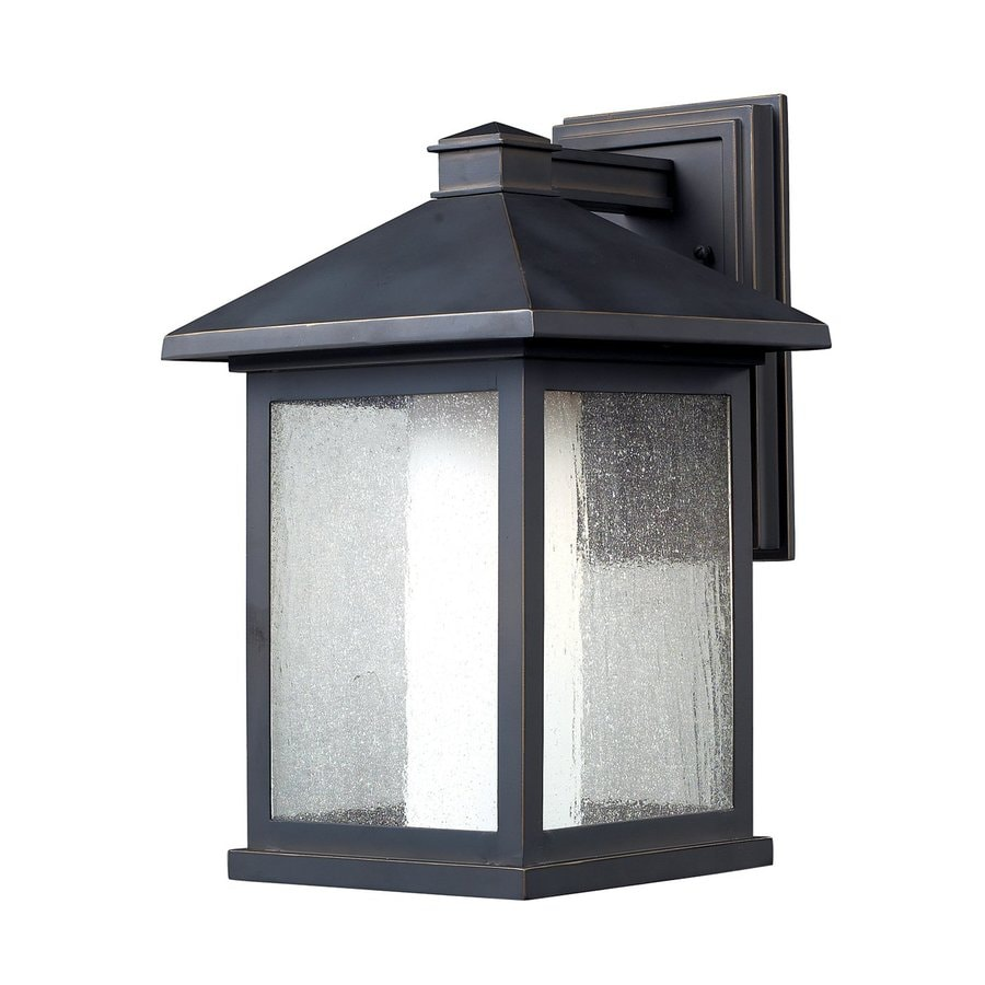 Z-Lite Mesa 15.75-in H Oil-Rubbed Bronze Outdoor Wall Light