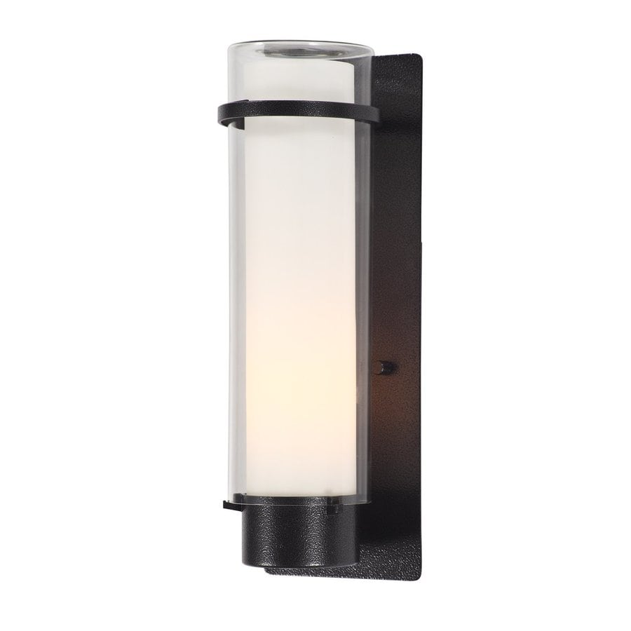 DVI Essex 14-in H Hammered Black Outdoor Wall Light