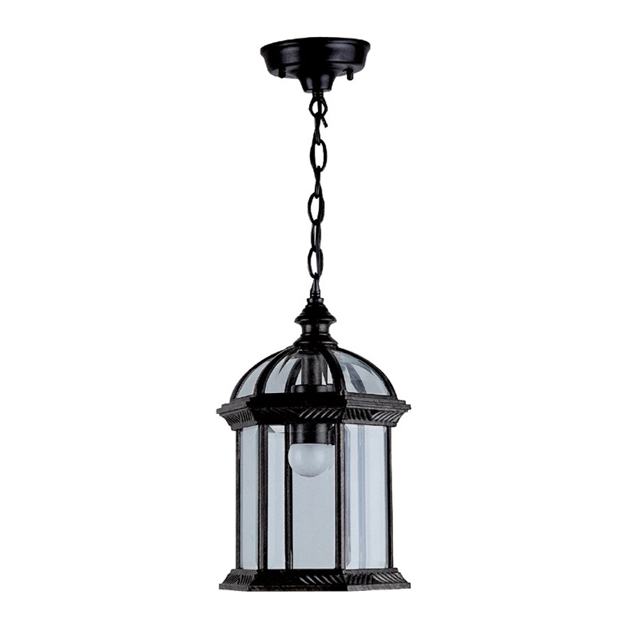 Shop DVI Hexagon 13 In Black Hardwired Outdoor Pendant