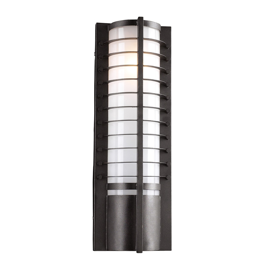 PLC Lighting Terrace 21.5-in H Architectural Bronze Outdoor Wall Light