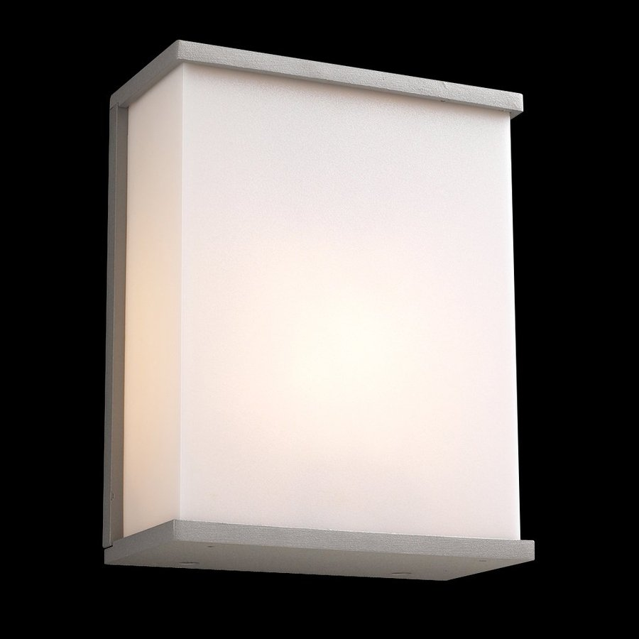 PLC Lighting Pinero 10-in H Architectural Silver Outdoor Wall Light