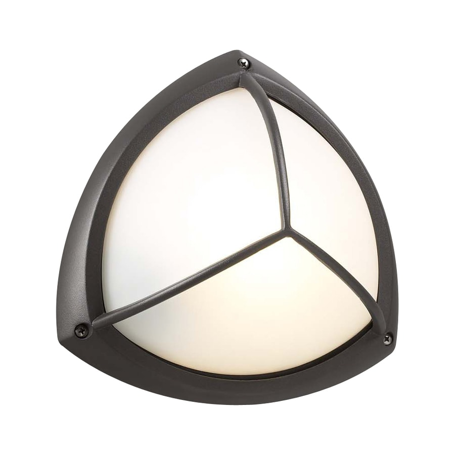PLC Lighting Canterbury 10-in W Architectural Bronze Outdoor Flush-Mount Light