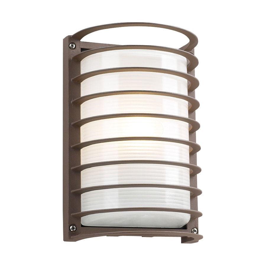PLC Lighting Evora 10-1/2-in Architectural Bronze Outdoor Wall Light