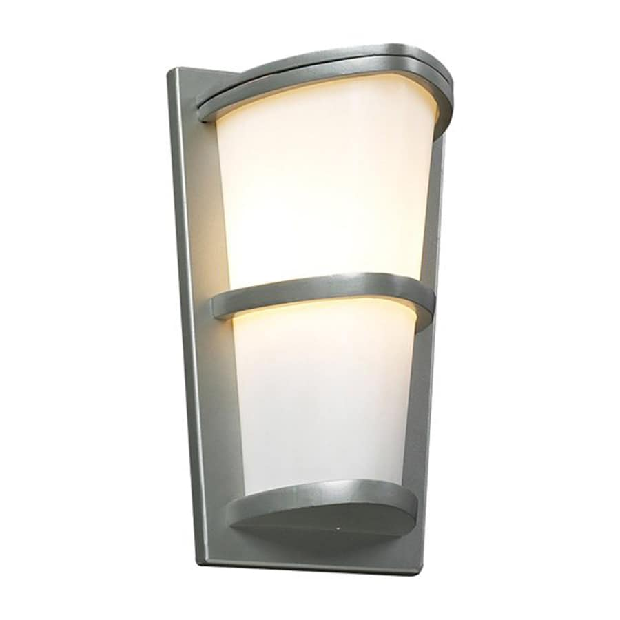 PLC Lighting Algeria 13.25-in H Silver Outdoor Wall Light