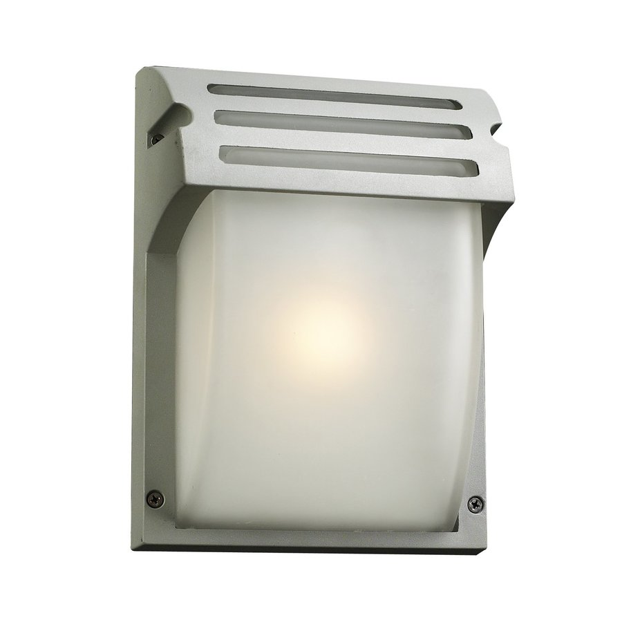 PLC Lighting Moser 9.75-in H Silver Outdoor Wall Light