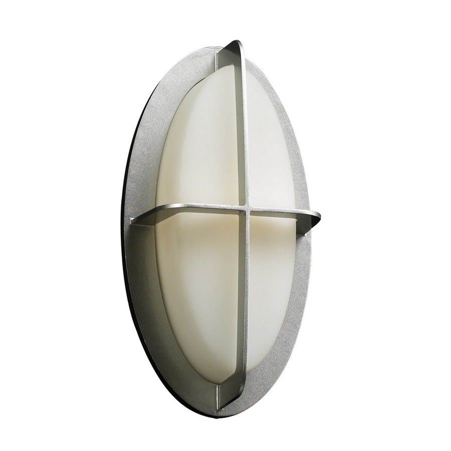 PLC Lighting Aqua 14-in H Silver Outdoor Wall Light
