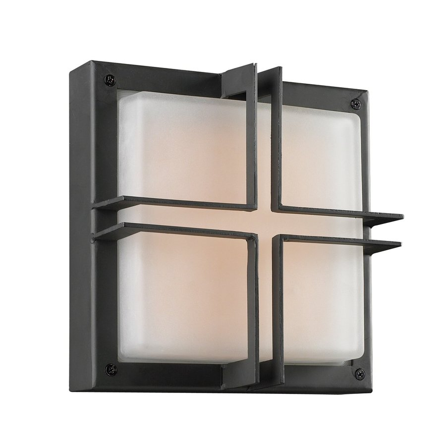 PLC Lighting Piccolo 10-in W Architectural Bronze Outdoor Flush-Mount Light