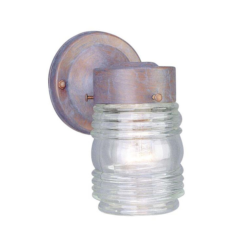 Volume International Jelly Jar 7-in H Prairie Rock Outdoor Wall Light