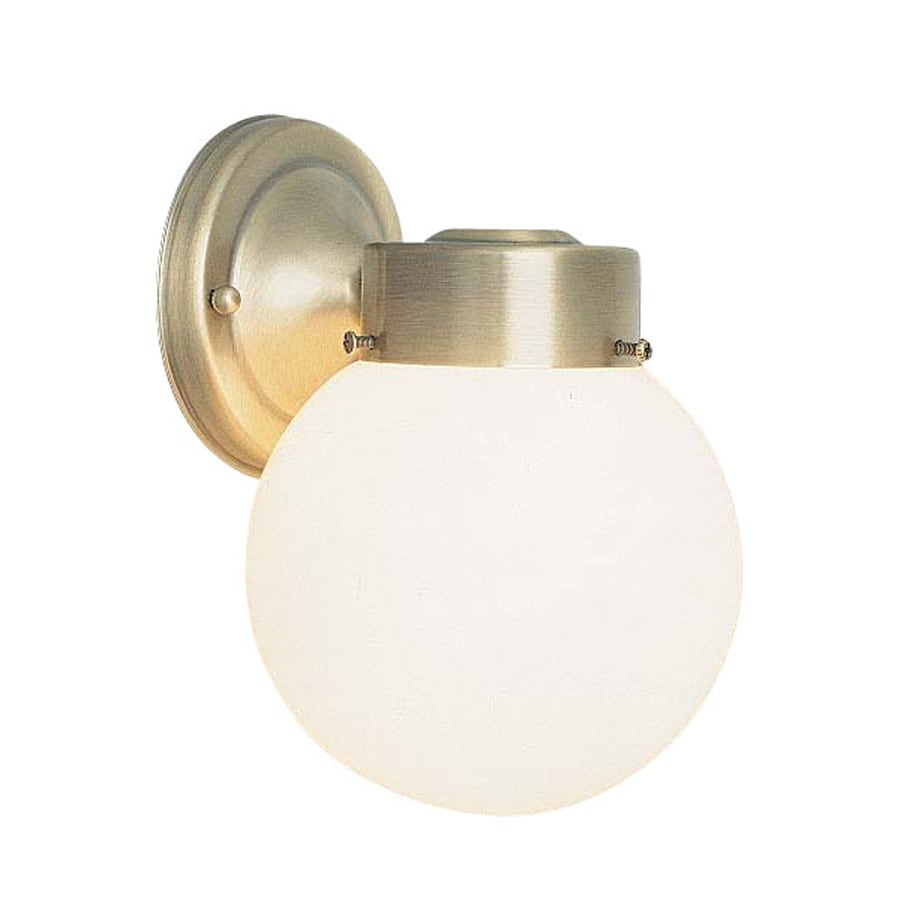 Volume International Globe 8.5-in H Antique Brass Outdoor Wall Light