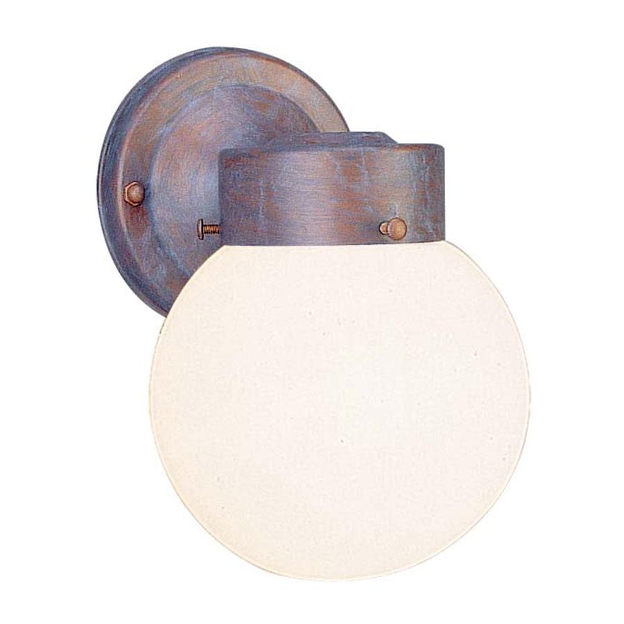 Volume International Globe 8.5-in H Prairie Rock Outdoor Wall Light
