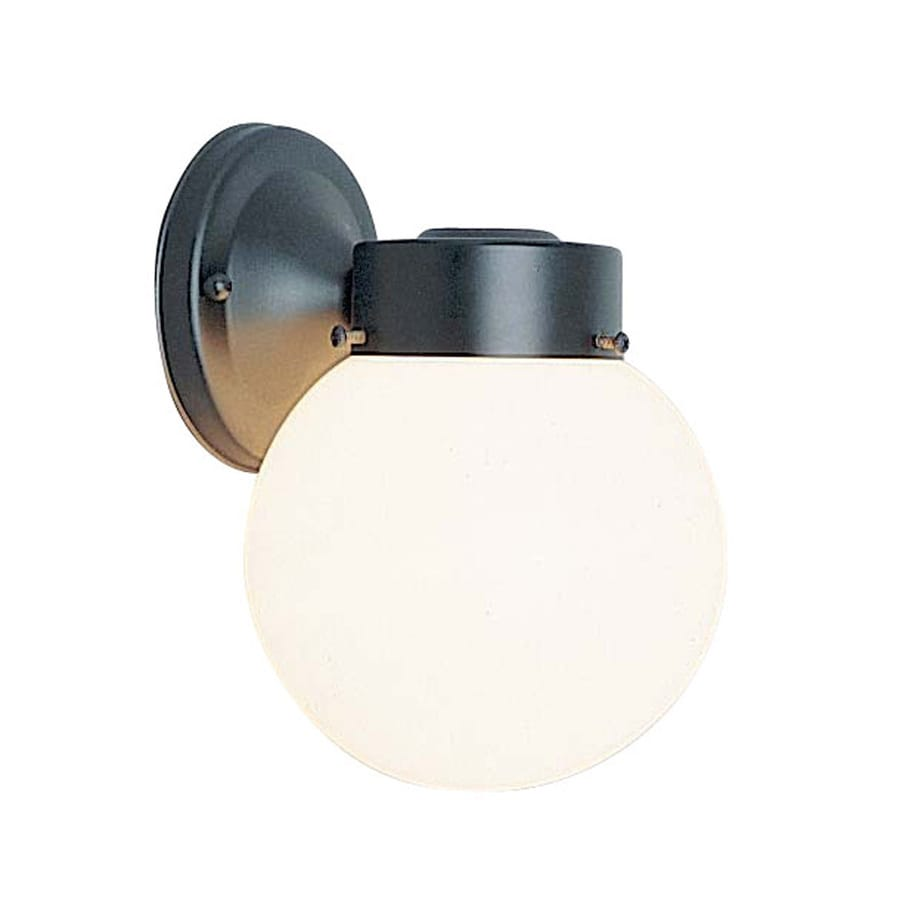 Captivating Volume International Globe 8.5 In H Black Outdoor Wall Light