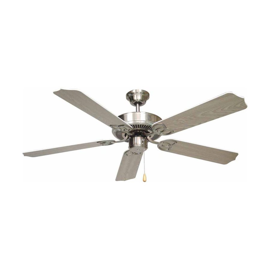 Volume International Marti 52-in Brushed Nickel Downrod Mount Indoor Residential Ceiling Fan (5-Blade)
