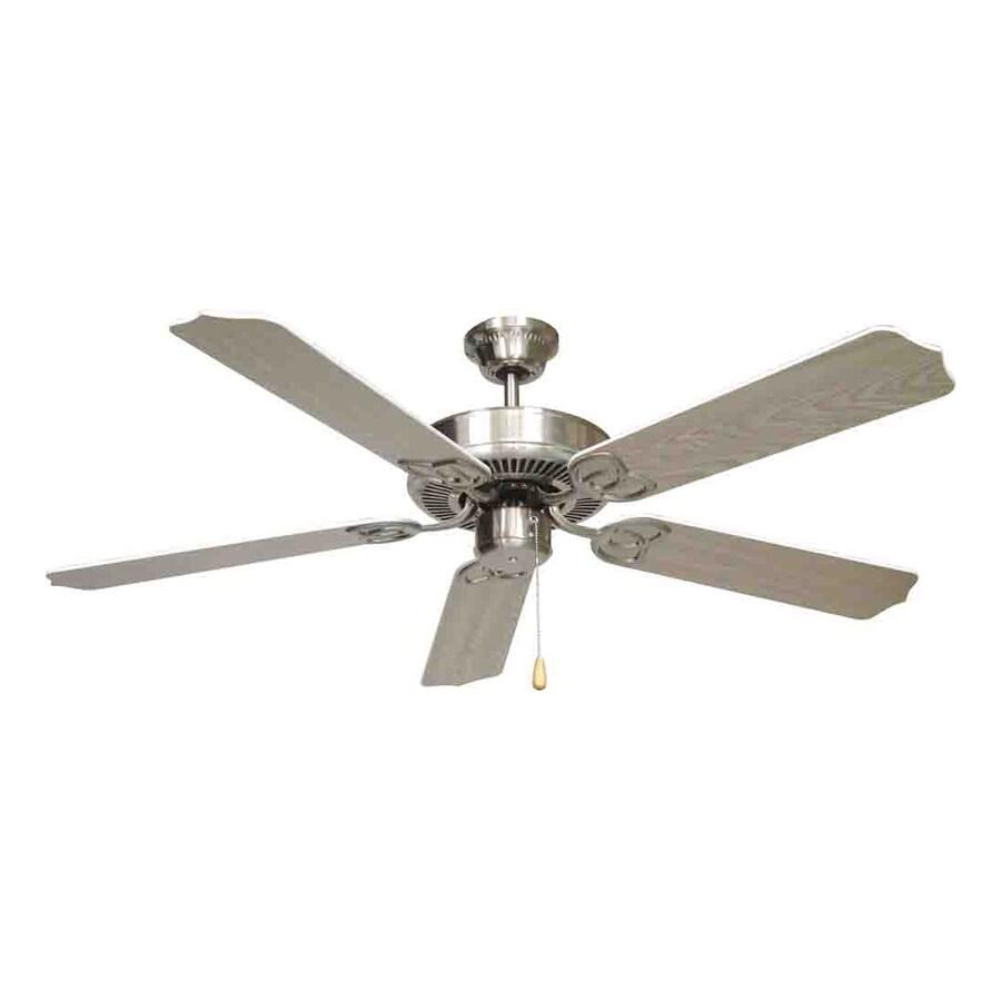 Volume International Minster 52-in Brushed Nickel Downrod Mount Indoor Residential Ceiling Fan (5-Blade)