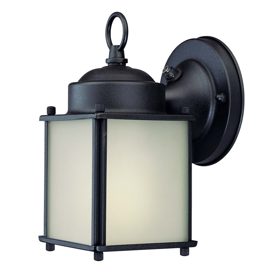 Volume International 8.5-in H Black Outdoor Wall Light ENERGY STAR