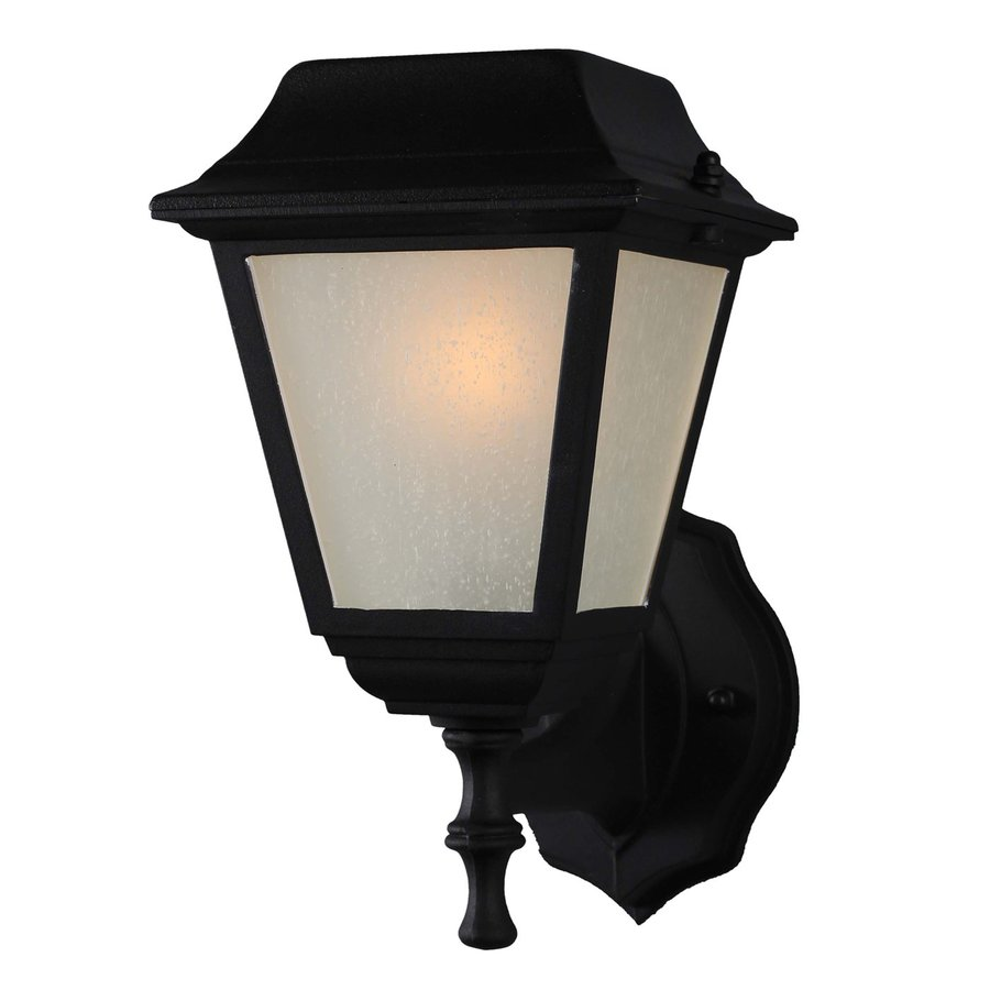 Volume International 11 In H LED Black Solar Outdoor Wall Light
