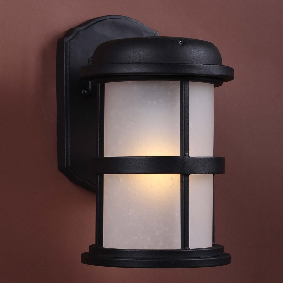 High Quality Volume International 9 In H LED Black Solar Outdoor Wall Light