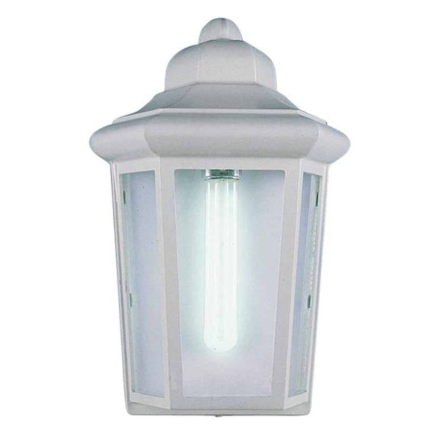 Volume International 12-in H White Outdoor Wall Light