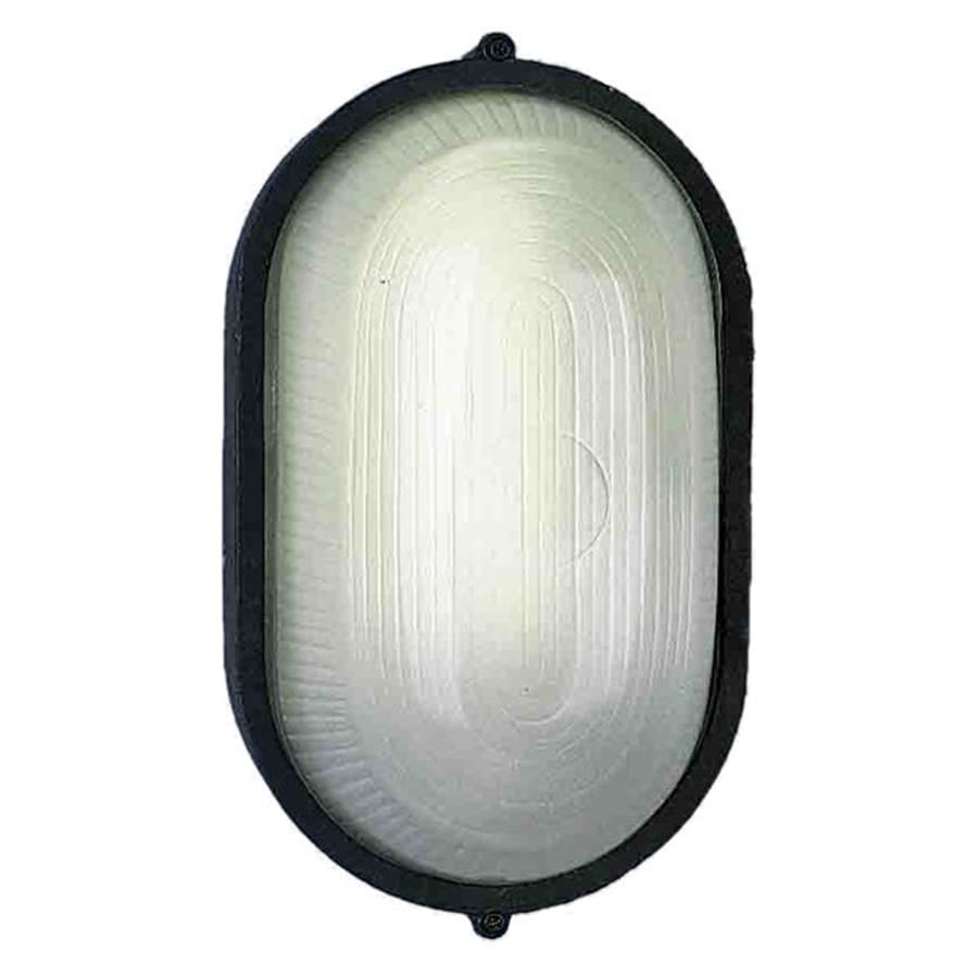 Volume International 11-in H Black Outdoor Wall Light