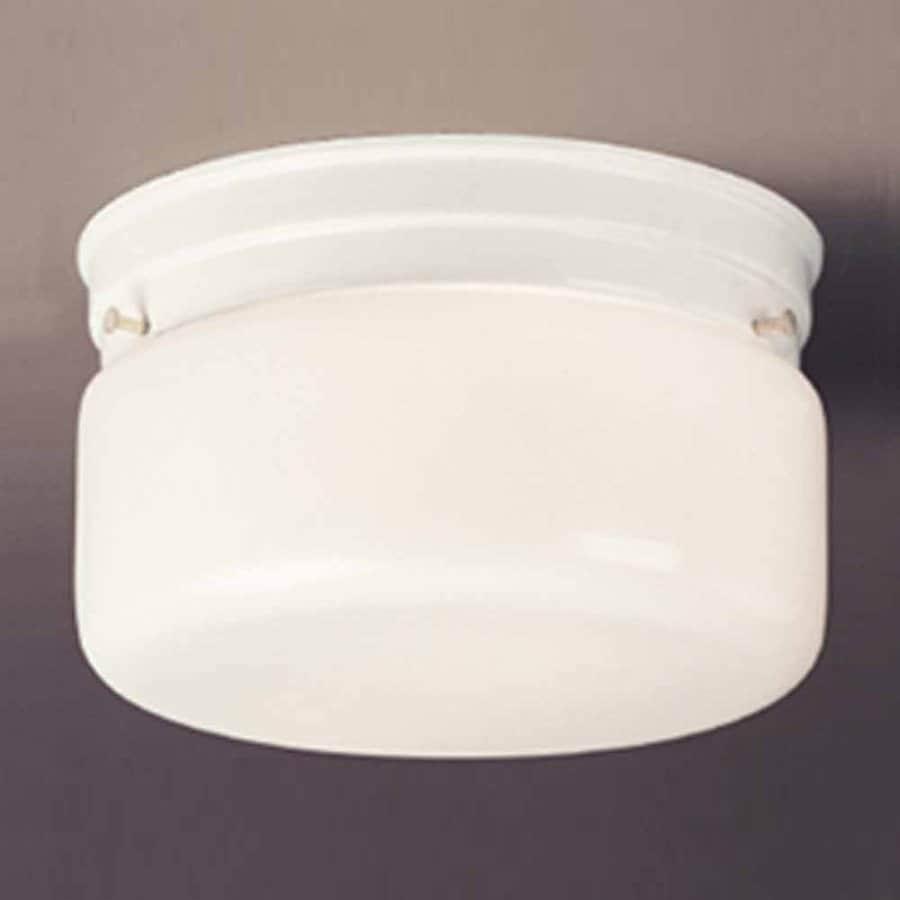Volume International 6.75-in W White Outdoor Flush-Mount Light