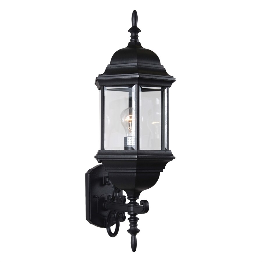 Volume International 9.5-in W Black Outdoor Flush Mount Light