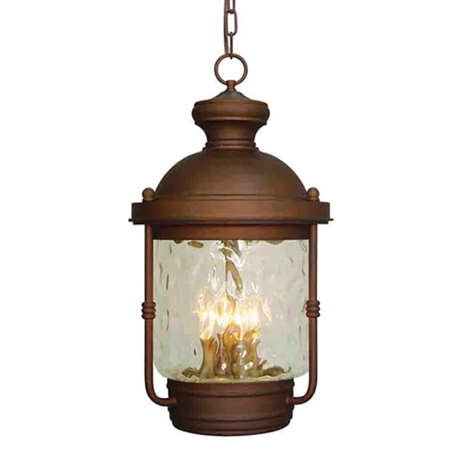 Volume International Sterling 22.25-in Burnished Bronze Hardwired Outdoor Pendant Light