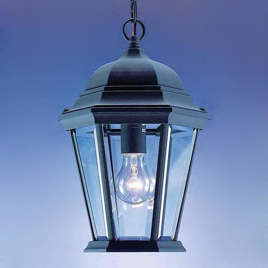 Volume International 14.25-in H Black Outdoor Pendant Light