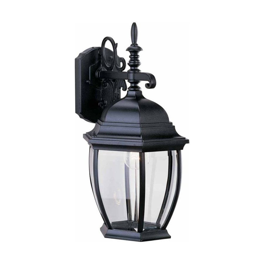 Volume International 18-in H Black Outdoor Wall Light