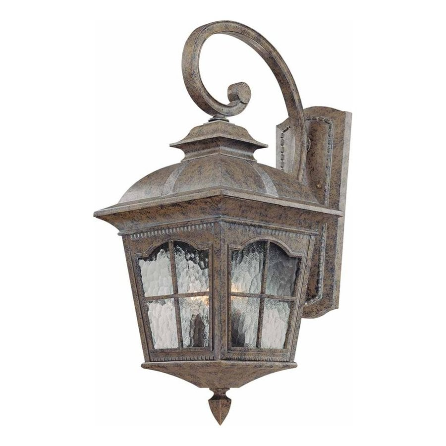 Volume International Leeds 25.5-in H Amulet Bronze Outdoor Wall Light