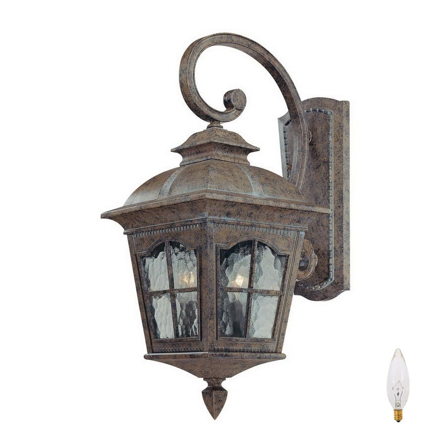 Volume International Leeds 29.5-in H Amulet Bronze Outdoor Wall Light