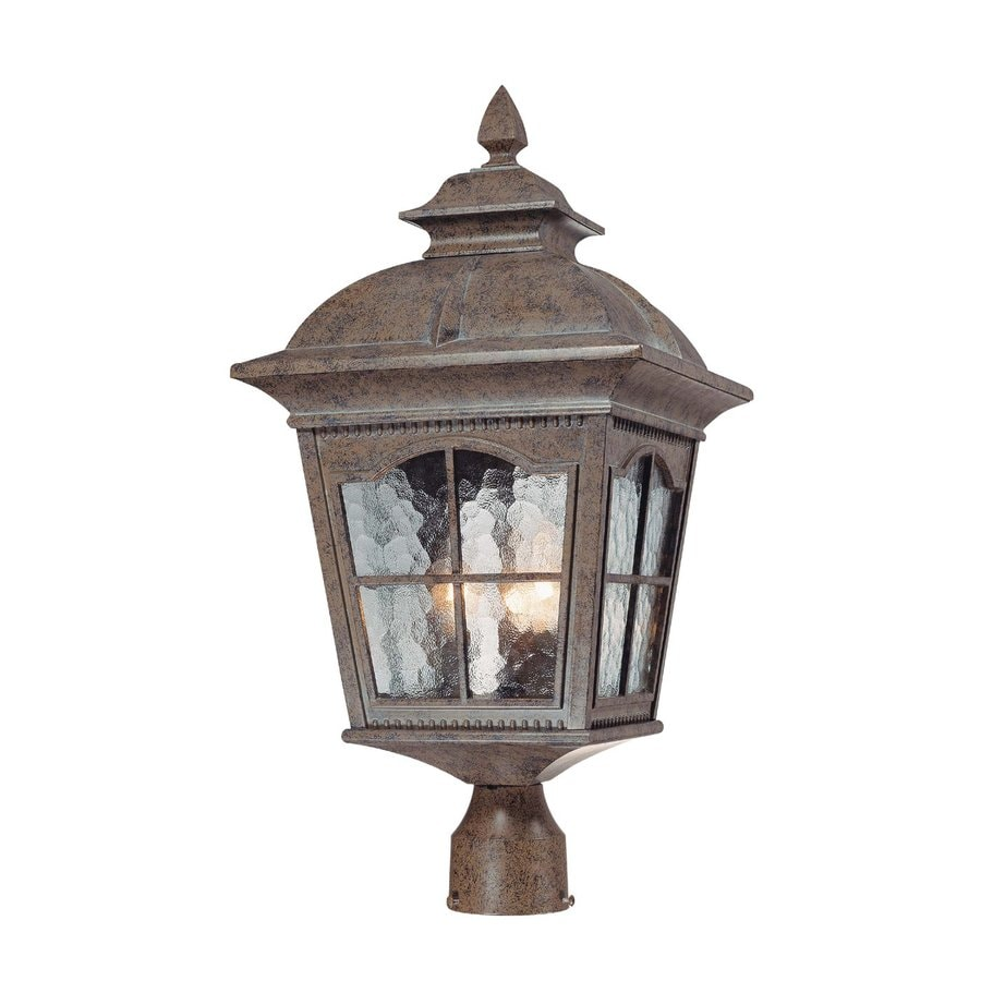 Volume International Leeds 22-in H Amulet Bronze Post Light