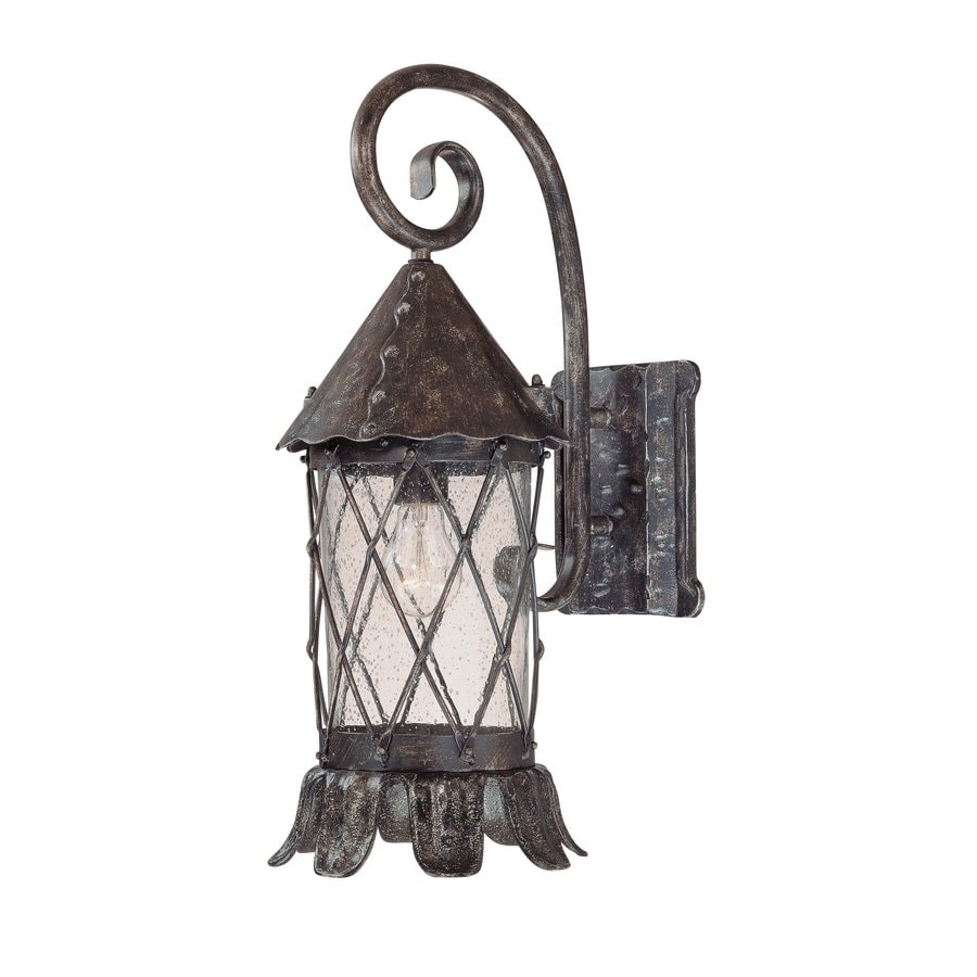 Volume International Blarney 21.5-in H Dark Iron Outdoor Wall Light