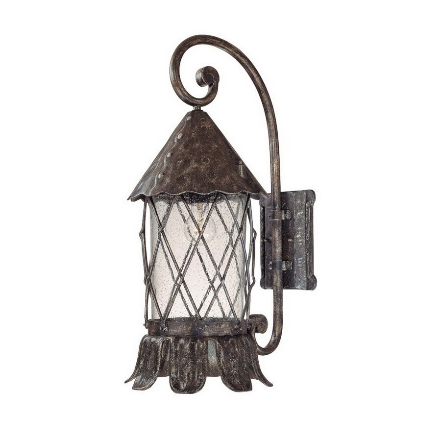Volume International Blarney 24.75-in H Dark Iron Outdoor Wall Light
