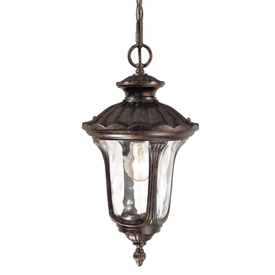 Volume International Tavira 19-in Vintage Bronze Outdoor Pendant Light
