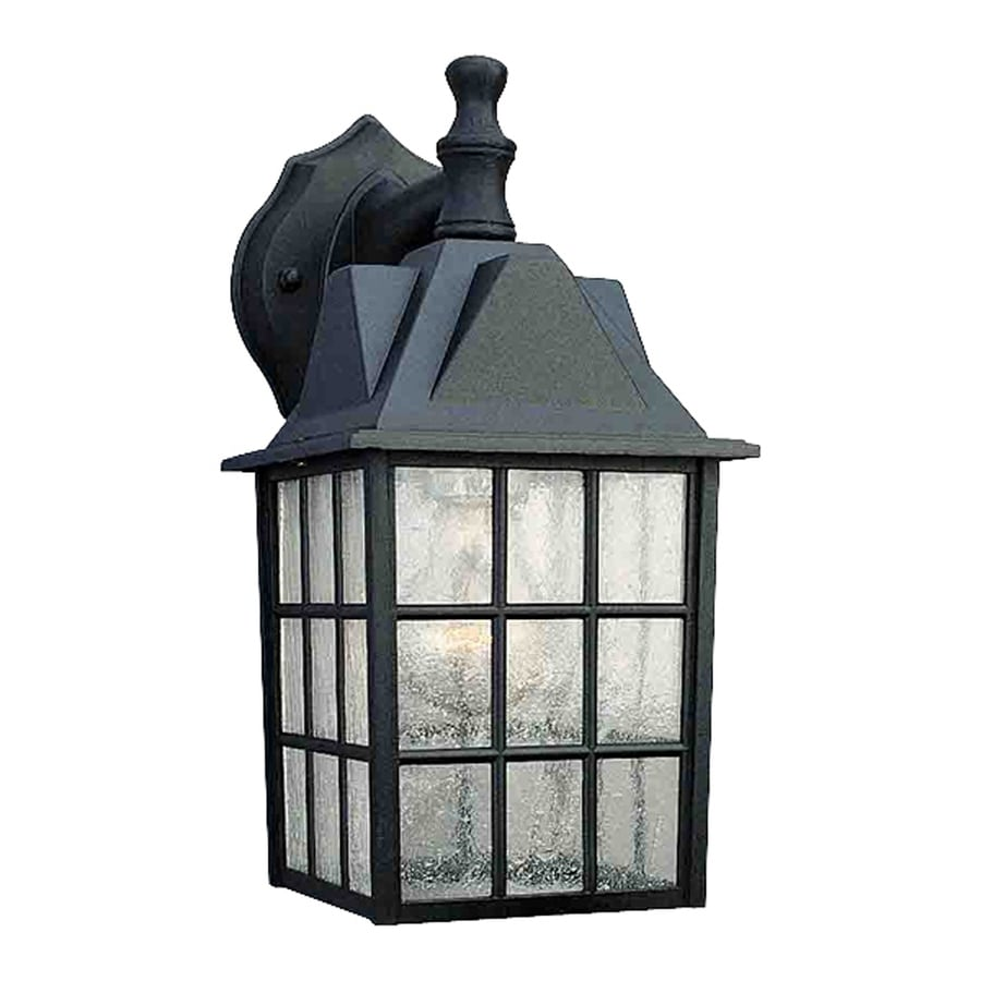 Volume International 12-in H Black Outdoor Wall Light