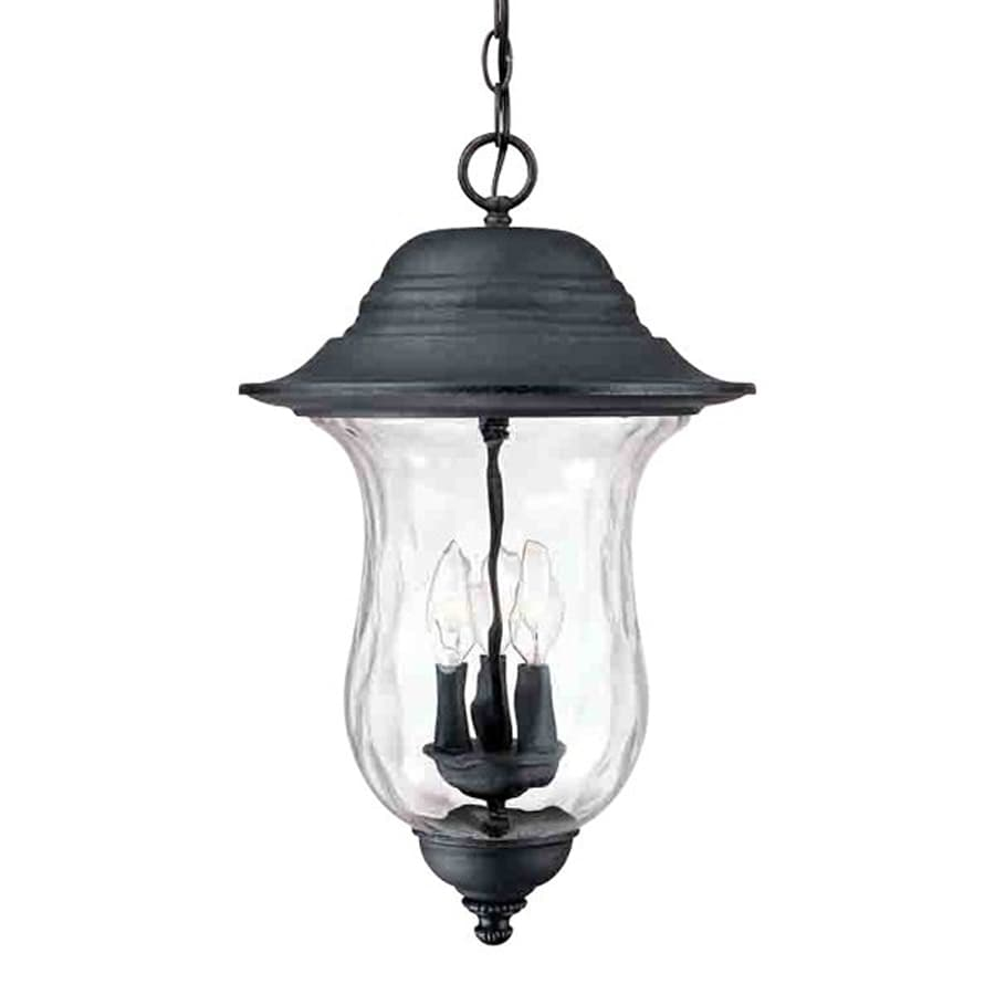 Volume International Aurora 22-in Antique Iron Hardwired Outdoor Pendant Light