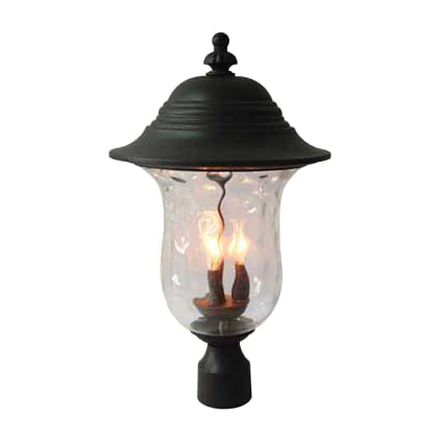 Volume International Aurora 23-in H Antique Iron Post Light