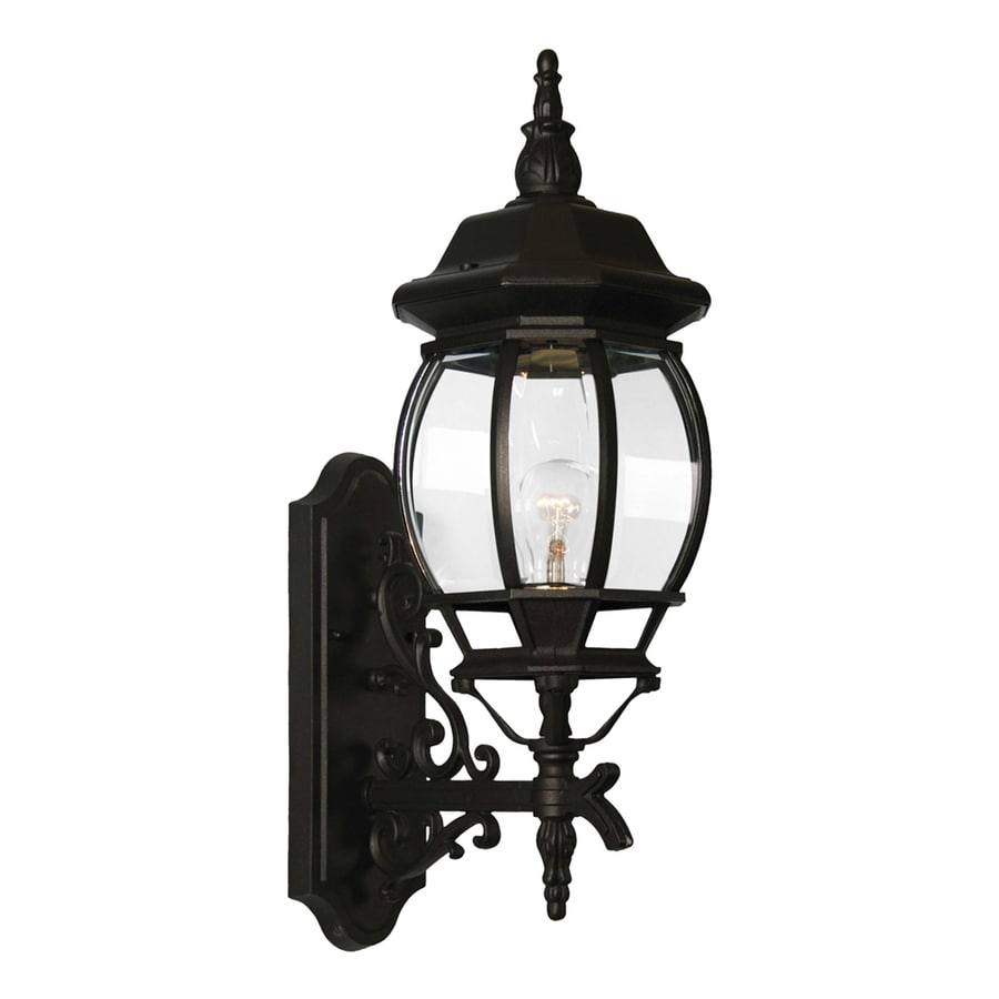 Volume International 23.5-in H Black Outdoor Wall Light