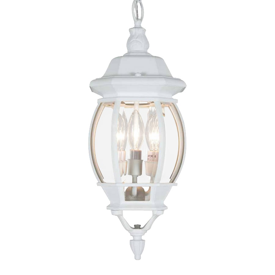 Volume International 22-in White Outdoor Pendant Light