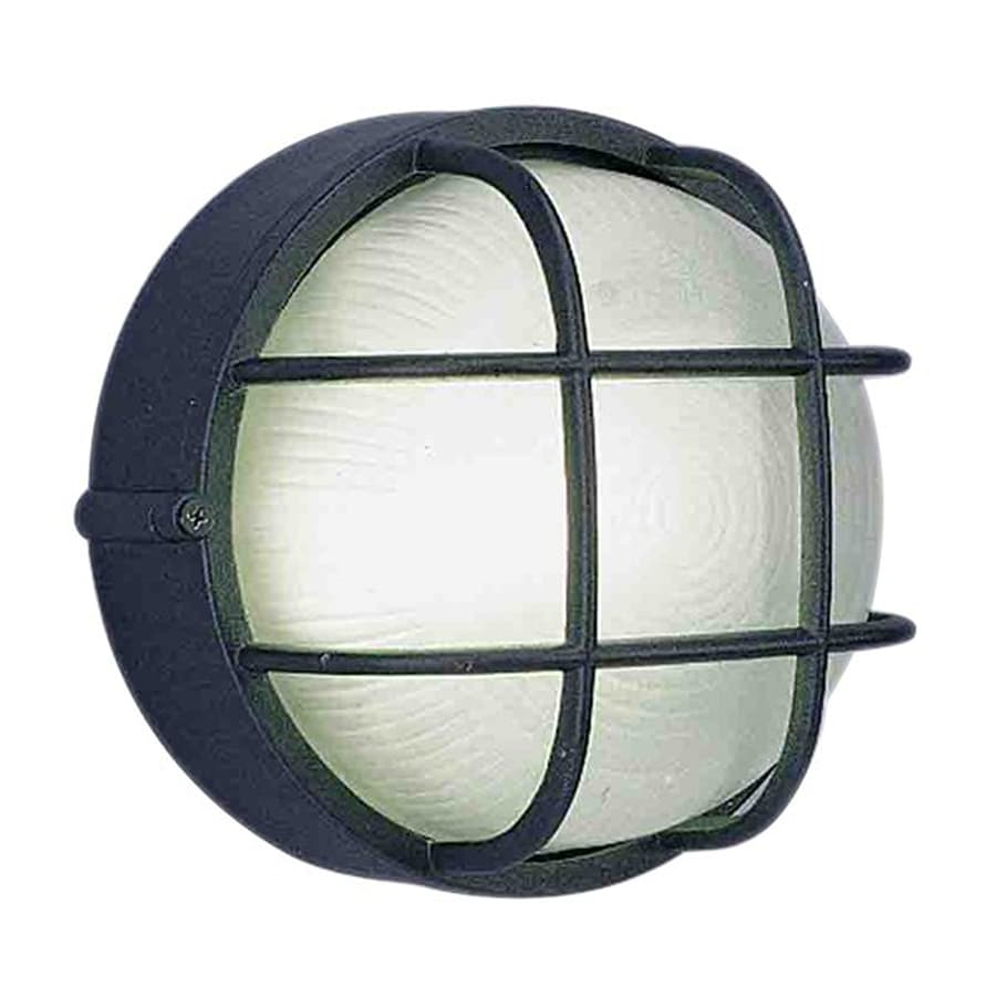 Volume International 7.5-in W Black Outdoor Flush-mount Light