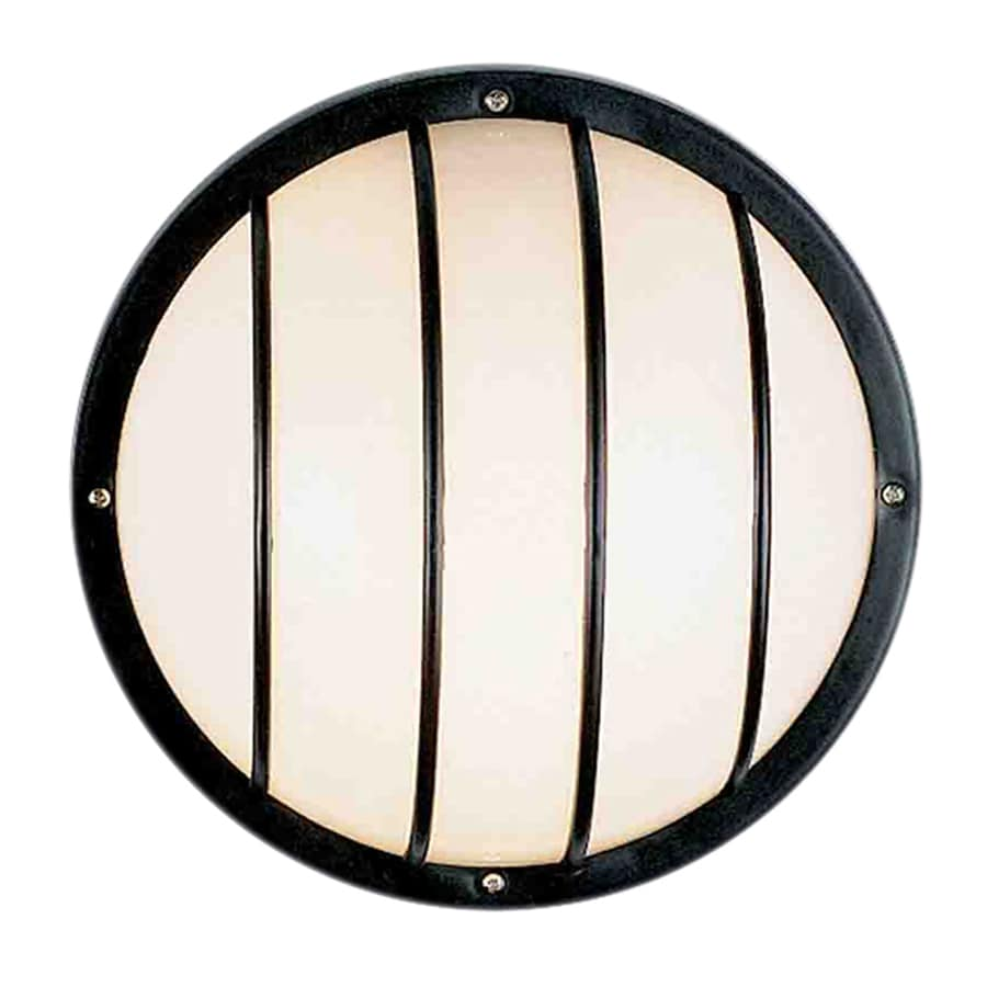 Volume International 10.25-in H Black Medium Base (E-26) Outdoor Wall Light