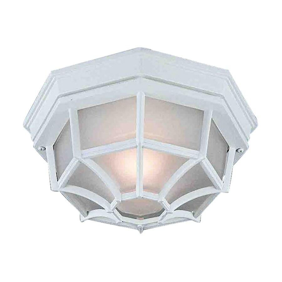 Volume International 9.25-in W White Outdoor Flush-Mount Light