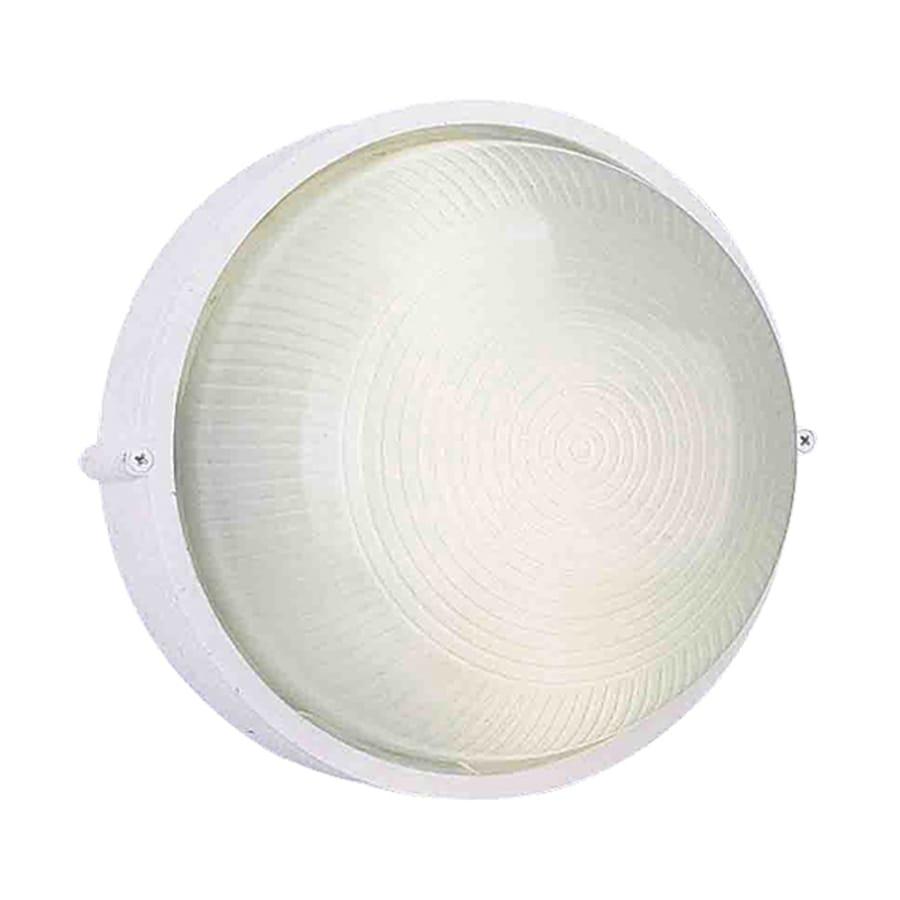 Volume International 10-in W White Outdoor Flush-mount Light
