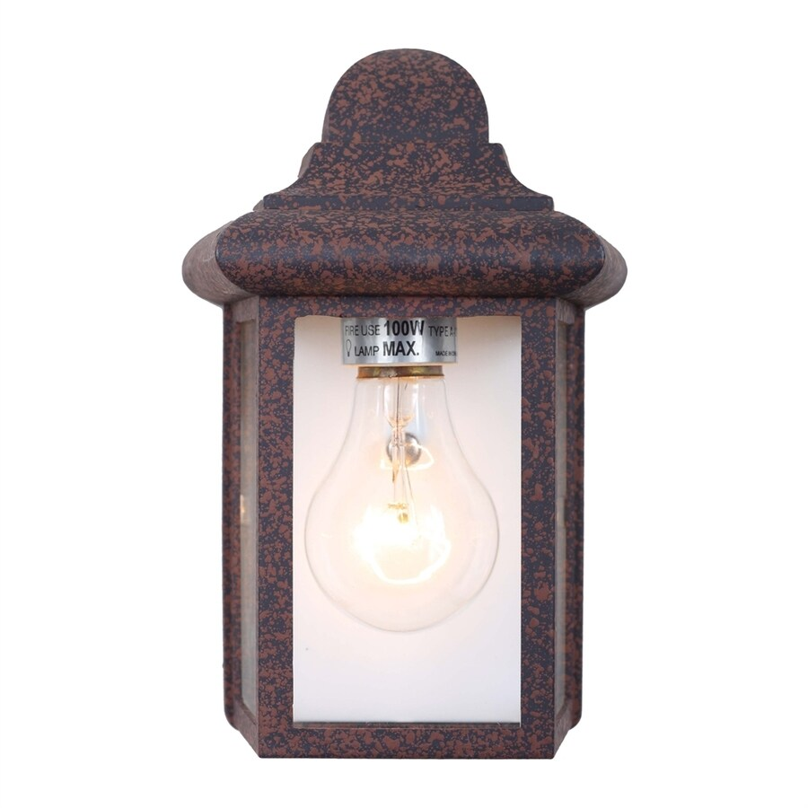 Volume International 8.75-in H Rust Outdoor Wall Light