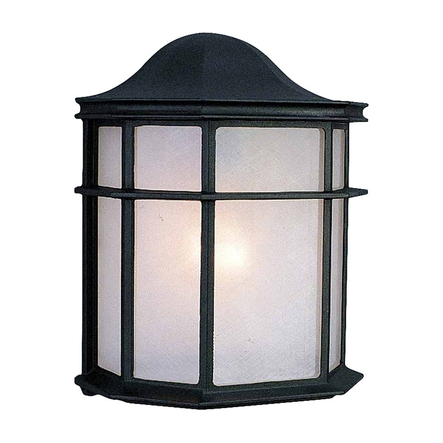 Volume International 10-in H Black Outdoor Wall Light