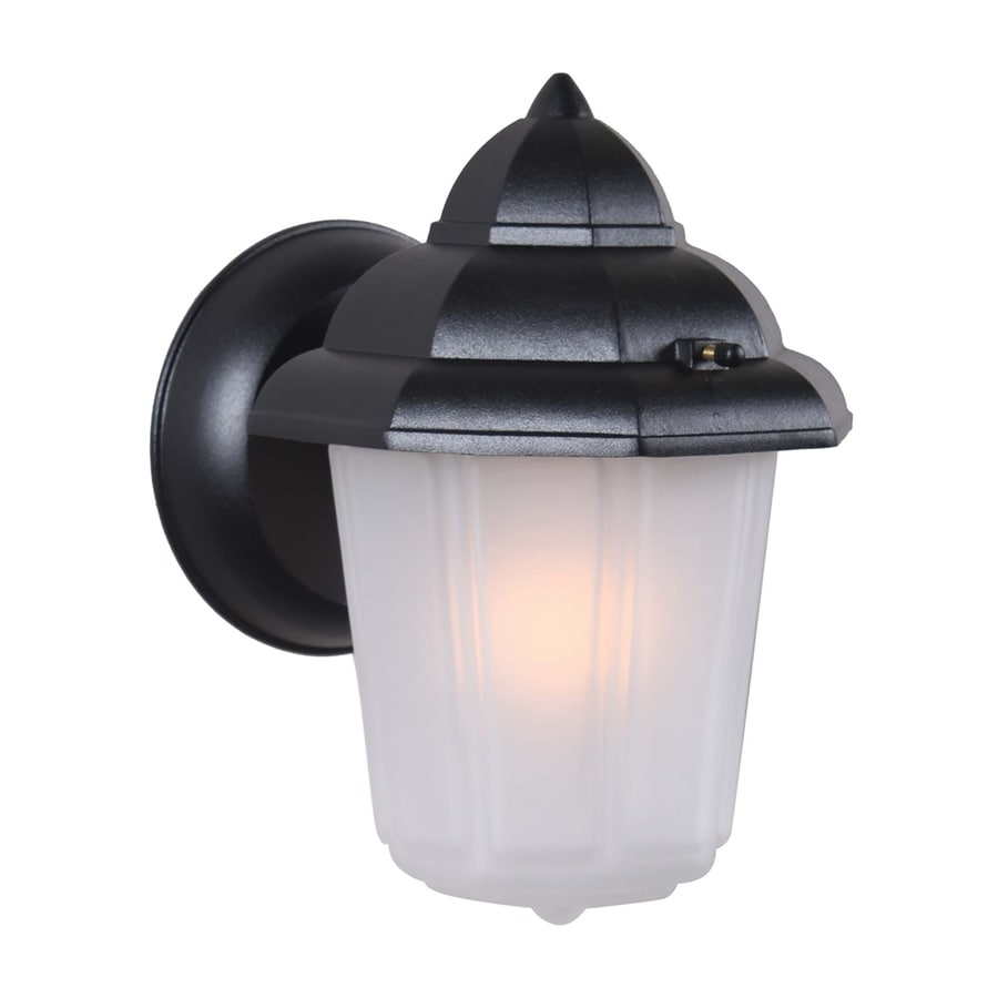 Volume International 8.75-in H Black Outdoor Wall Light