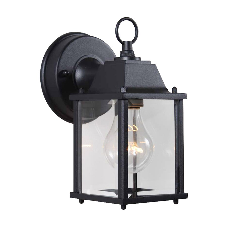 Volume International 8-in H Black Outdoor Wall Light