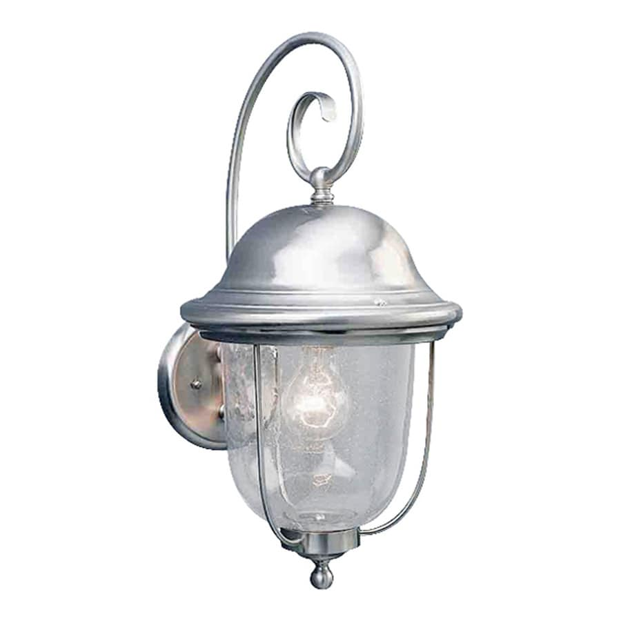 Volume International 19-in H Brushed Nickel Outdoor Wall Light