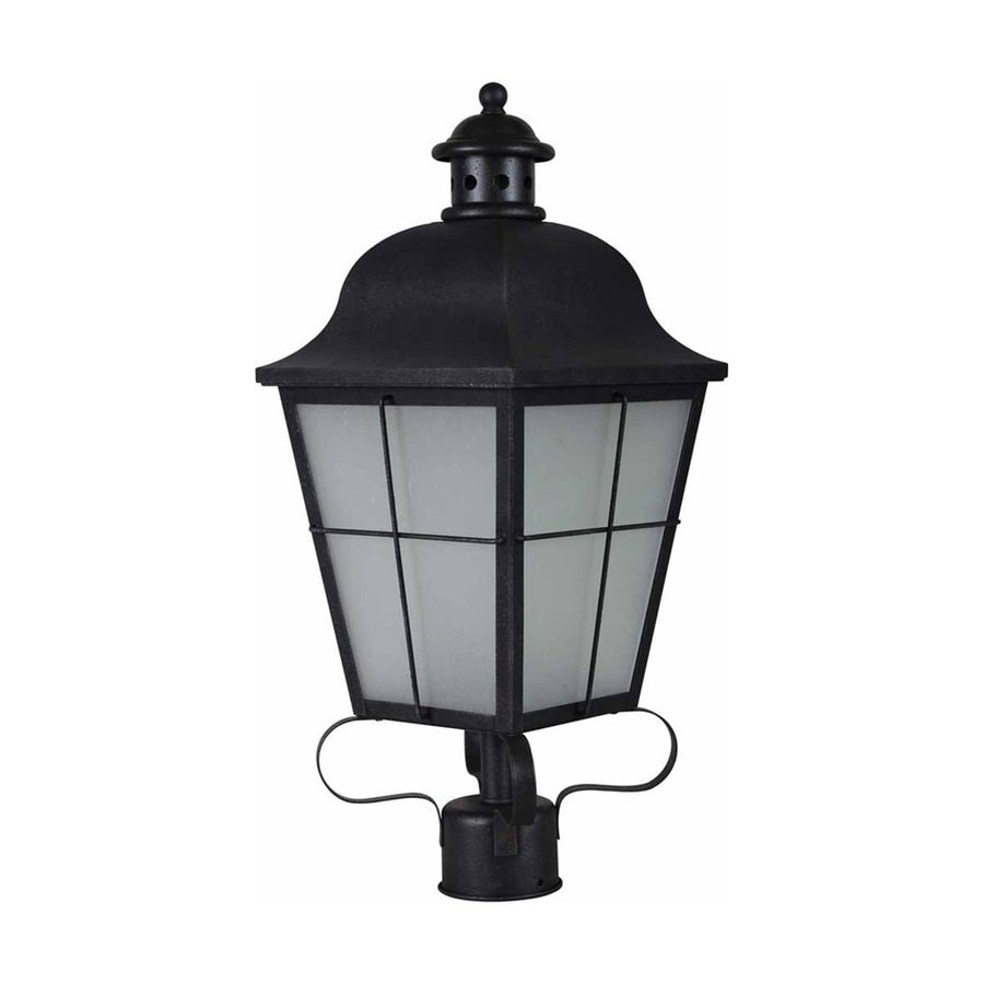 Volume International 22-in H Antique Iron Post Light
