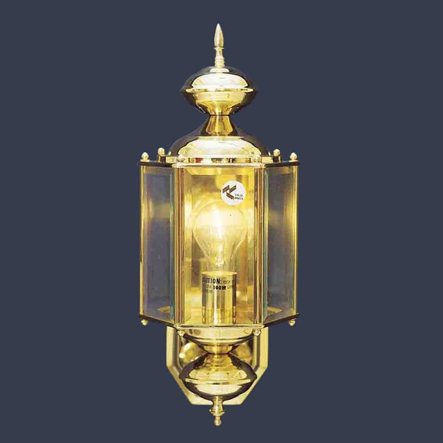 Volume International 17.5-in H Polished Solid Brass Outdoor Wall Light