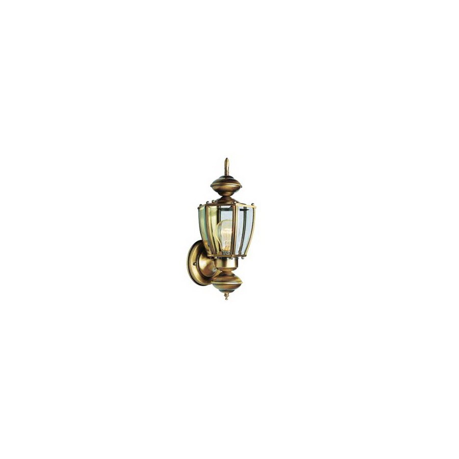 Volume International 15.5-in H Antique-Solid Brass Outdoor Wall Light
